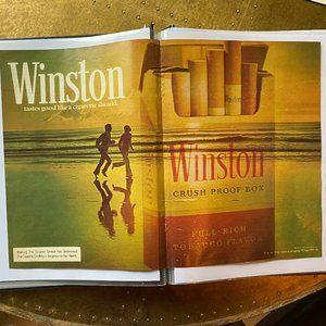 Vintage 70s Sport Magazine Winston Ad Poster